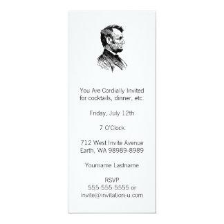 """Abraham Lincoln Invitación 4"""" X 9.25"""""""