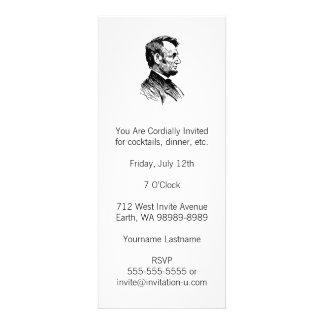Abraham Lincoln Custom Invitations