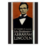 Abraham Lincoln, 'John Drinkwater's' Retro Theater Card