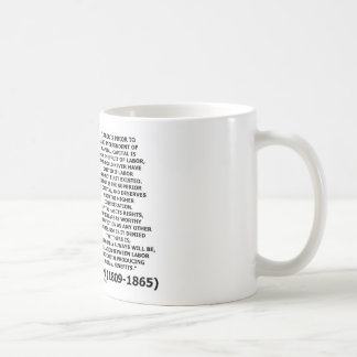 Abraham Lincoln Labor Capital Mutual Benefits Classic White Coffee Mug