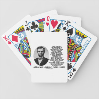 Abraham Lincoln Labor Capital Mutual Benefits Bicycle Playing Cards