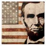 Abraham Lincoln Large Square Tile