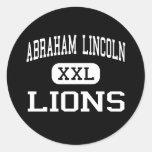 Abraham Lincoln - leones - alto - San Jose Etiqueta Redonda