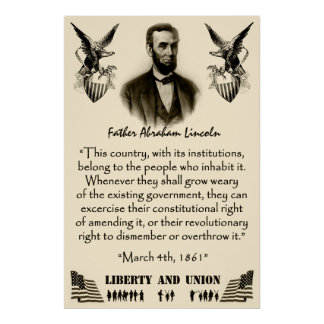 Abraham Lincoln: Liberty And Union Poster