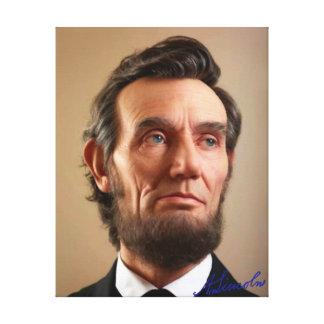Abraham Lincoln Impresión En Lona