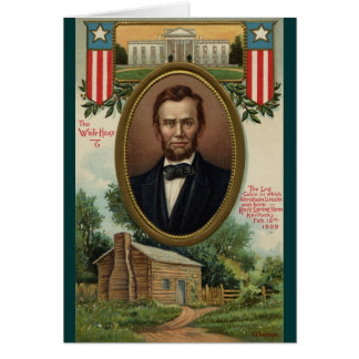 Abraham Lincoln & Log Cabin in Kentucky Greeting Card