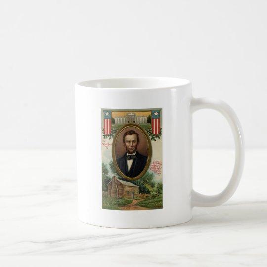 Abraham Lincoln & Log Cabin in Kentucky Coffee Mug