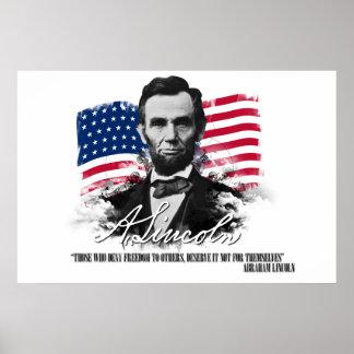Abraham Lincoln los que niegan el poster de la lib