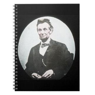 Abraham Lincoln Magic Lantern Glass Slide Notebook