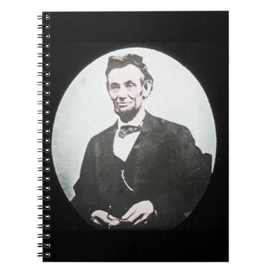 Abraham Lincoln Magic Lantern Glass Slide Spiral Notebook