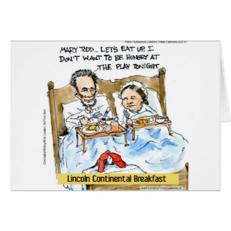 Abraham Lincoln & Mary Todd Breakfast In Bed Greeting Card