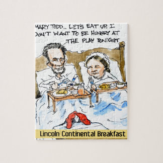 Abraham Lincoln & Mary Todd Breakfast In Bed Jigsaw Puzzle