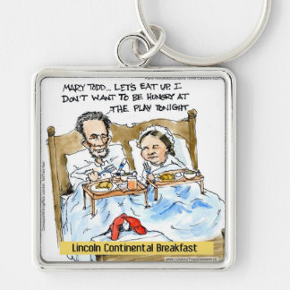 Abraham Lincoln & Mary Todd Breakfast In Bed Keychain
