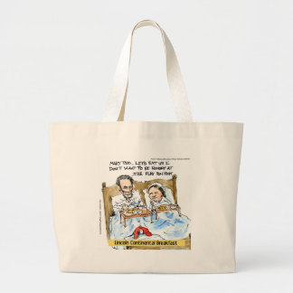 Abraham Lincoln & Mary Todd Breakfast In Bed Large Tote Bag