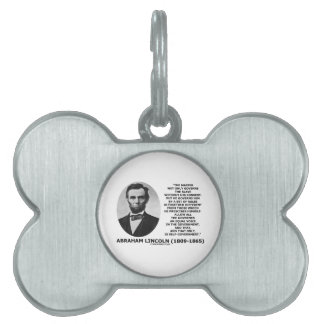 Abraham Lincoln Master Slave Self-Government Pet Name Tag