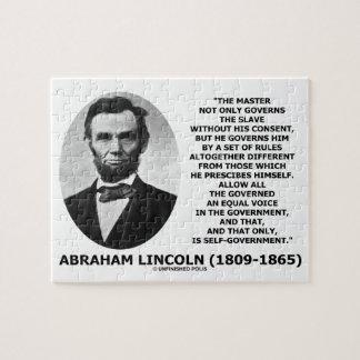 Abraham Lincoln Master Slave Self-Government Puzzle