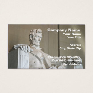 Abraham Lincoln Memorial Business Card