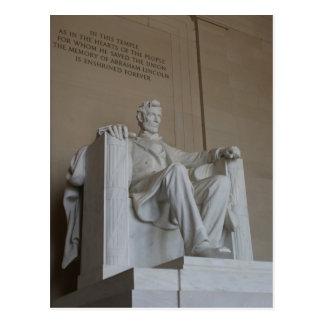 Abraham Lincoln Memorial Washington DC postcard