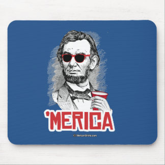Abraham Lincoln 'Merican Party Mouse Pad