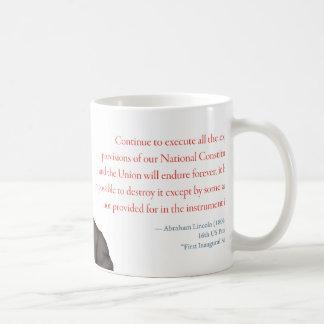 """Abraham Lincoln Mug #2 """"Union Endures"""""""
