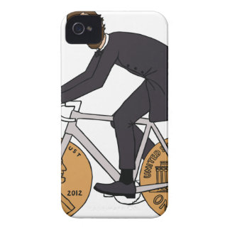 Abraham Lincoln On A Bike With Penny Wheels Bottle iPhone 4 Case-Mate Case