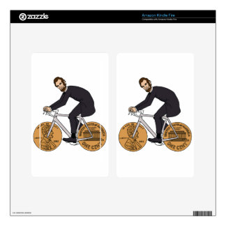 Abraham Lincoln On A Bike With Penny Wheels Bottle Kindle Fire Skin