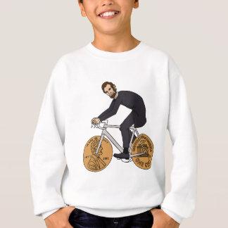Abraham Lincoln On A Bike With Penny Wheels Bottle Sweatshirt