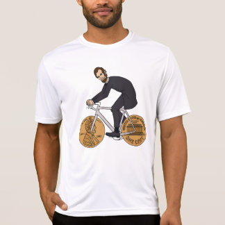 Abraham Lincoln On A Bike With Penny Wheels T-Shirt