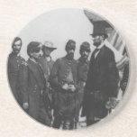 Abraham Lincoln on Battlefield at Antietam Drink Coaster