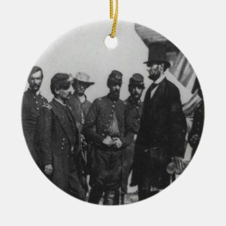Abraham Lincoln on Battlefield at Antietam Christmas Ornament