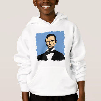 Abraham Lincoln on Blue Background Hoodie