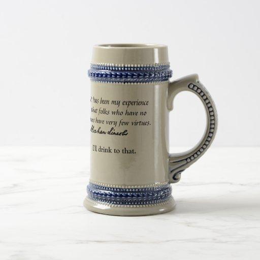 Abraham Lincoln on vice and virtue Coffee Mug