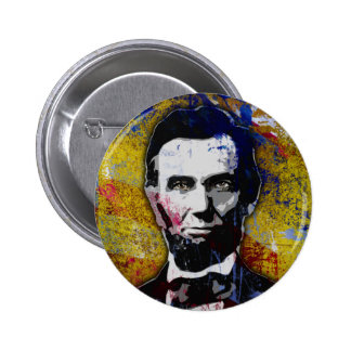 Abraham Lincoln - Painting Button