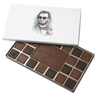 Abraham Lincoln Party Animal 45 Piece Box Of Chocolates