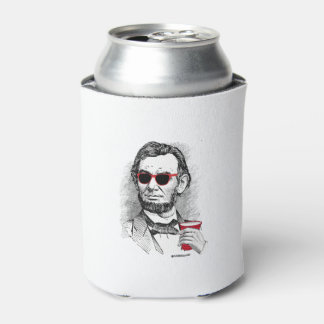Abraham Lincoln Party Animal Can Cooler