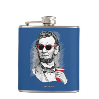 Abraham Lincoln Party Animal Flask