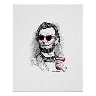 Abraham Lincoln Party Animal Poster
