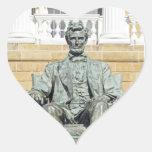 Abraham Lincoln Calcomanía De Corazón Personalizadas