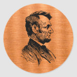 Abraham Lincoln Pegatinas Redondas