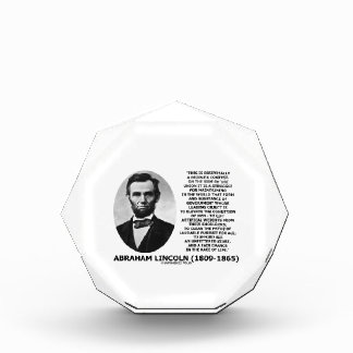Abraham Lincoln People's Contest Union Race Life Award