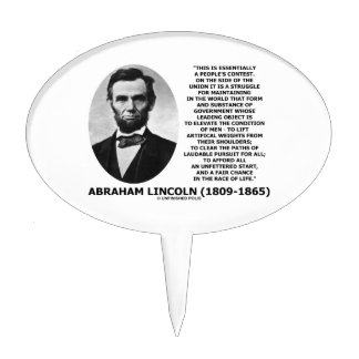 Abraham Lincoln People's Contest Union Race Life Cake Topper