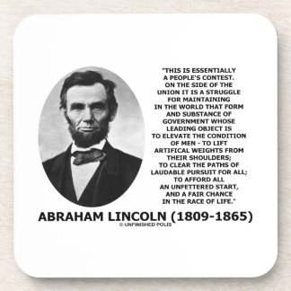 Abraham Lincoln People's Contest Union Race Life Coaster