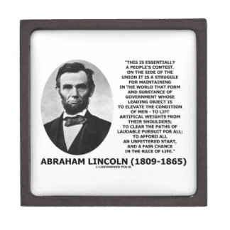 Abraham Lincoln People's Contest Union Race Life Keepsake Box