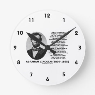 Abraham Lincoln People's Contest Union Race Life Round Clock