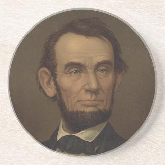 Abraham Lincoln Picture on Unique Coasters