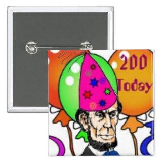 Abraham Lincoln Pin Cuadrado