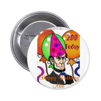 Abraham Lincoln Pin Redondo De 2 Pulgadas