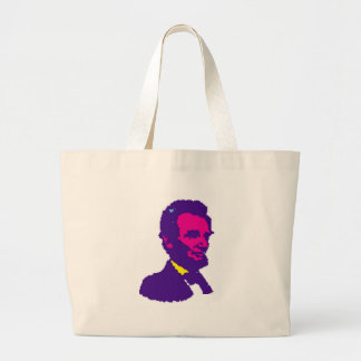 Abraham Lincoln Pixelated Bolsa Lienzo