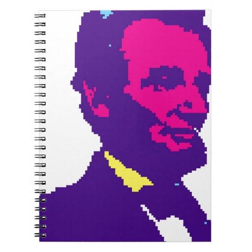 Abraham Lincoln Pixelated Libros De Apuntes Con Espiral