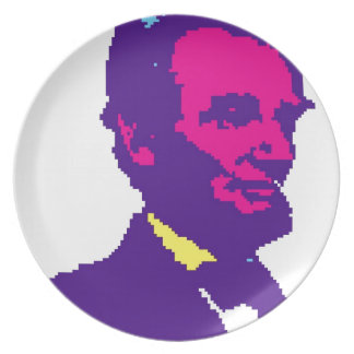 Abraham Lincoln Pixelated Dinner Plate